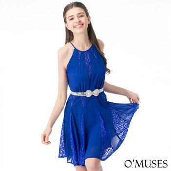 【OMUSES】法式削肩宴會洋裝28-8113(S-XL)