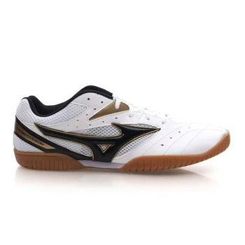 【MIZUNO】CROSSMATCH PLIO CN2 男桌球鞋- 美津濃 白黑金
