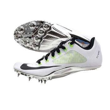 【NIKE】ZOOM SUPERFLY R4 男女田徑釘鞋 短距離 白黑螢光綠