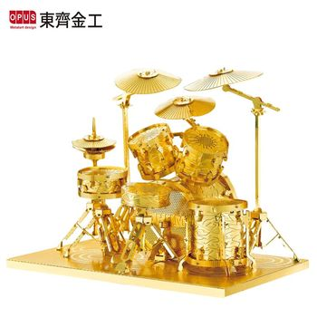 【OPUS東齊金工】3D黃金拼圖DIY樂器模型 - 爵士鼓(架子鼓)