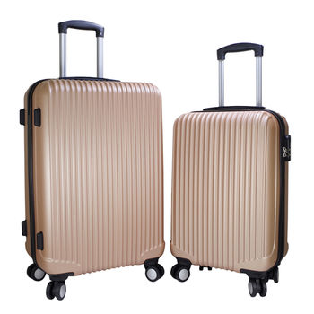 【NINORIVA】20+24吋典雅玫瑰金條紋行李箱(NL-DP02S-2+P200004)