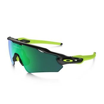 【OAKLEY】RADAR EV 偏光太陽眼鏡 附硬盒鼻墊 登山 抗UV 芥末綠