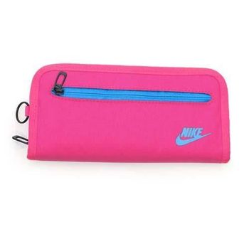 【NIKE】手拿包-手機包 手提包 長夾 螢光粉紫