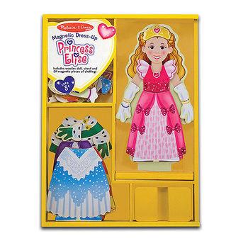 【美國 Melissa  Doug】木磁紙娃娃-公主 MD3553