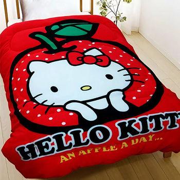 【Hello Kitty】天天吃蘋果 暖暖厚毯被