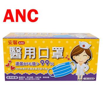 ANC安馨醫用口罩(50個/盒)-綠色