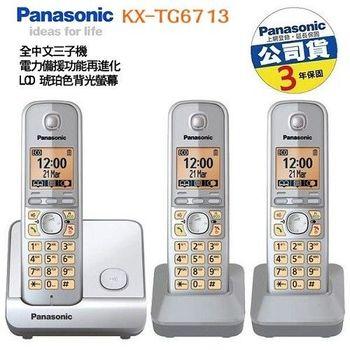 Panasonic DECT節能數位無線電話 (銀色) KX-TG6713