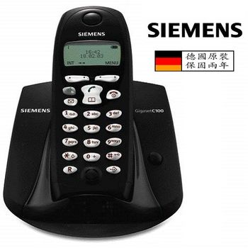 SIEMENS 西門子 DECT 1.8G數位式無線電話 (黑色) C100