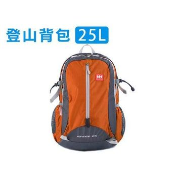 【NatureHike】25L 登山後背包 健行 雙肩包 防潑水 14吋筆電 橘