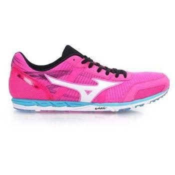 【MIZUNO】WAVE EKIDEN 10 女馬拉松鞋 慢跑鞋 路跑  粉紅白