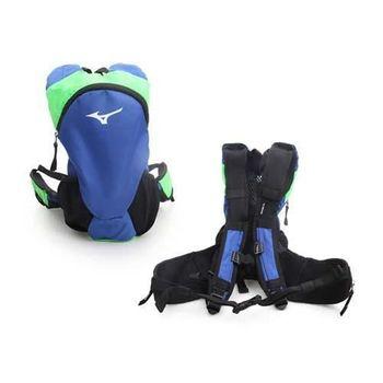 【MIZUNO】運動後背包-登山 旅行 單車 自行車 雙肩包 美津濃 藍綠黑