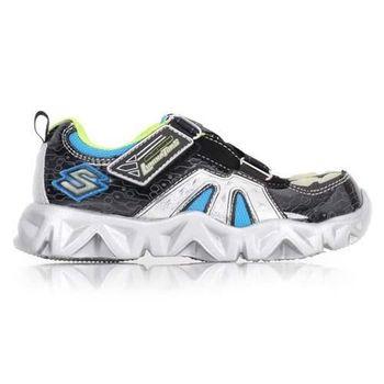 【SKECHERS】男女中童慢跑鞋- 路跑 童鞋 黑藍