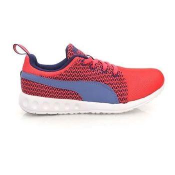 【PUMA】CARSON RUNNER KNIT WNS 女運動慢跑鞋 路跑 紅紫