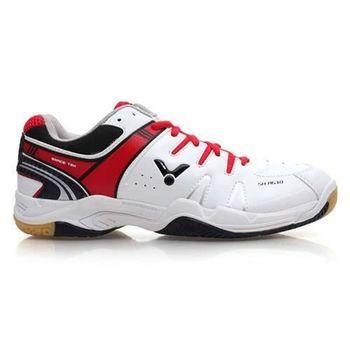 【VICTOR】男羽球鞋 - 排球鞋 羽毛球 黑紅白