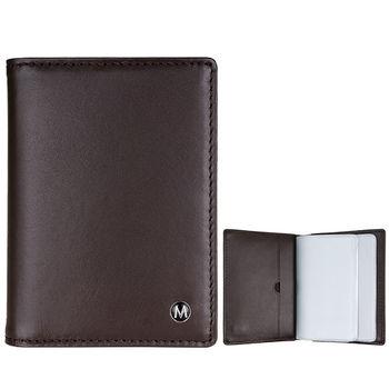 MONDAINE 瑞士國鐵牛皮信用卡夾-咖啡