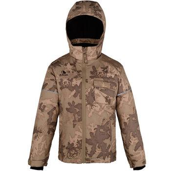 【聖伯納 St.Bonalt】男中童-鋪棉滑雪外套-褐色迷彩(7030)