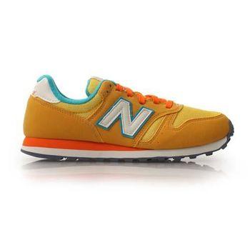 【NEWBALANCE】WL373 男女兒童復古休閒鞋 童鞋 NB N字鞋  橘黃