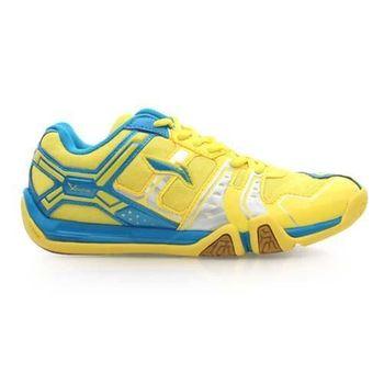 【LI-NING】女款羽球鞋- 羽毛球 李寧 黃藍