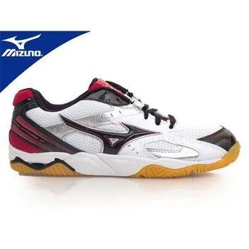 【MIZUNO】WAVE STARDOM JP3 男大童 排球鞋-防滑  白黑