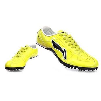 【LI-NING】男女專業短跑釘鞋-田徑 李寧  螢光黃黑