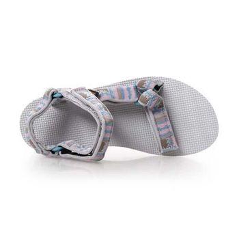 【TEVA】女UNIVERSAL 男織帶涼鞋 復古 運動 休閒 淺灰水藍粉
