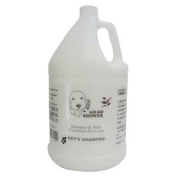 美國進口去蚤除蝨寵物沐浴乳_1加侖 再加贈稀釋瓶