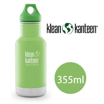 【美國Klean Kanteen】幼童不鏽鋼保溫瓶355ml_樹蛙綠