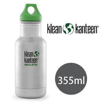 【美國Klean Kanteen】幼童不鏽鋼保溫瓶355ml_原色鋼