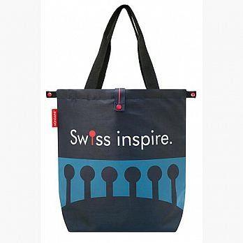 MONDAINE 瑞士國鐵摺疊肩背包-瑞士拱橋(藍)