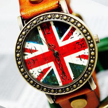 【BOBO】復古英倫風情皮革錶-橘 FFQ-1886