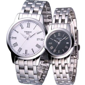 天梭 TISSOT Classic Dream 經典時尚對錶 T0334101101301 T0332101105300