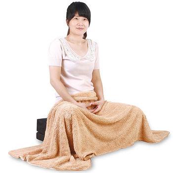 源之氣 極超細纖維居家毛毯 75*150cm/褐色