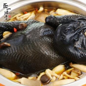 【正一排骨】 黑蒜蔘菇雞  (黑蒜頭+玉竹蔘燉烏骨全雞 2500g)