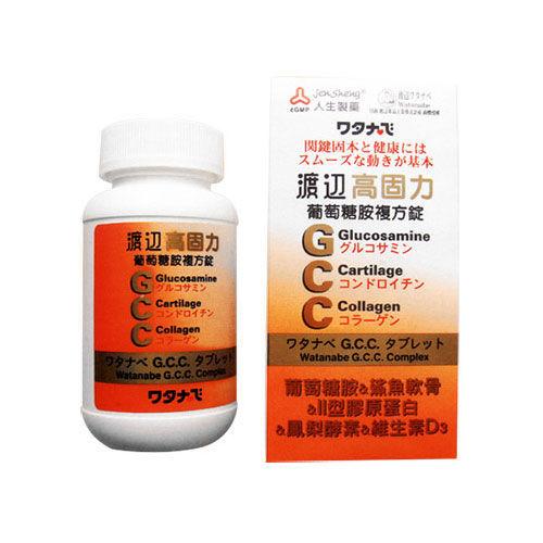人生製藥 渡邊高固力葡萄糖胺複方錠 (60錠) 二入組