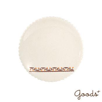 【goods+】歐式鄉村 櫻桃花邊陶瓷盤/杯盤/點心盤_PD08