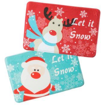 【買一送一】聖誕款柔軟防滑加厚記憶地墊
