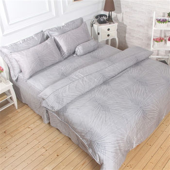 【Love City寢城之戀】頂級TENCEL天絲【迷洛】雙人六件式兩用被床罩組(5X6.2尺)