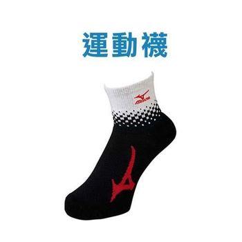 【MIZUNO】日製-男運動襪-日本製 保暖 襪子 美津濃 黑白紅