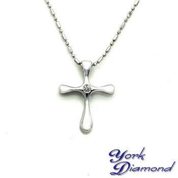 【約克鑽石】圓形1分信仰真鑽純銀項鍊