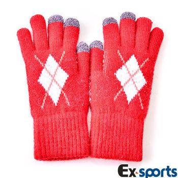 Ex-sports 觸控手套 智慧多功能(女款-G05-紅色)