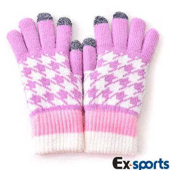 Ex-sports 觸控手套 智慧多功能(女款-G03-粉色)
