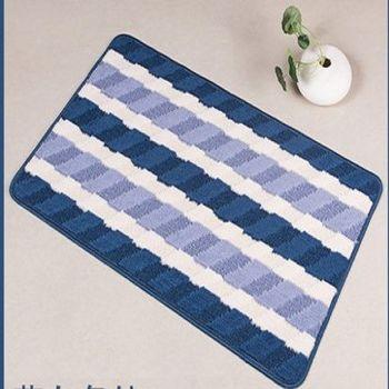 歐式防滑地墊(藍白條紋)