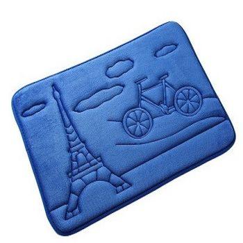 3D加厚卡通簡約珊瑚絨彈力綿墊子(單車)