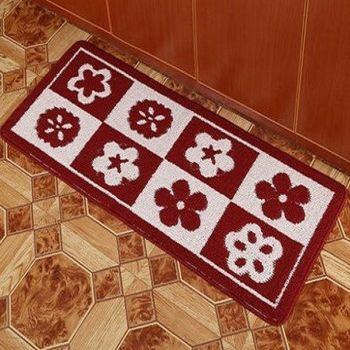 臥室長條吸水地毯(花)