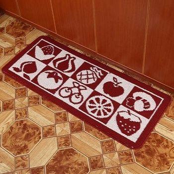臥室長條吸水地毯(水果)