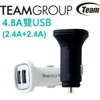 Team 十銓 WD01 4.8A USB雙孔車用充電器 2.4A+2.4A