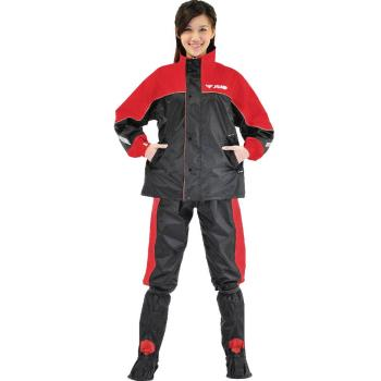 【JUMP】TV2套裝休閒風雨衣(紅黑_M~4XL)