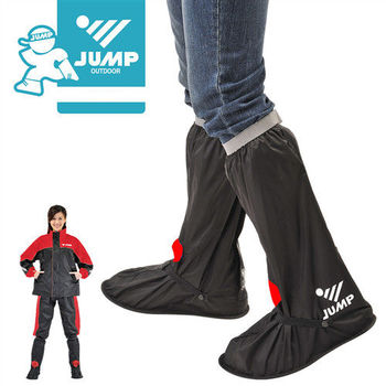 【JUMP】尼龍鞋套L001(黑紅 M-3XL)