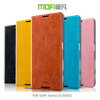 【MOFI】 SONY Xperia Z5 E6653 睿系列側翻皮套