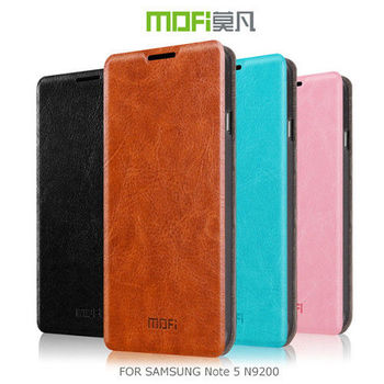 【MOFI】 SAMSUNG Galaxy Note 5 N9200/N9208 睿系列側翻皮套